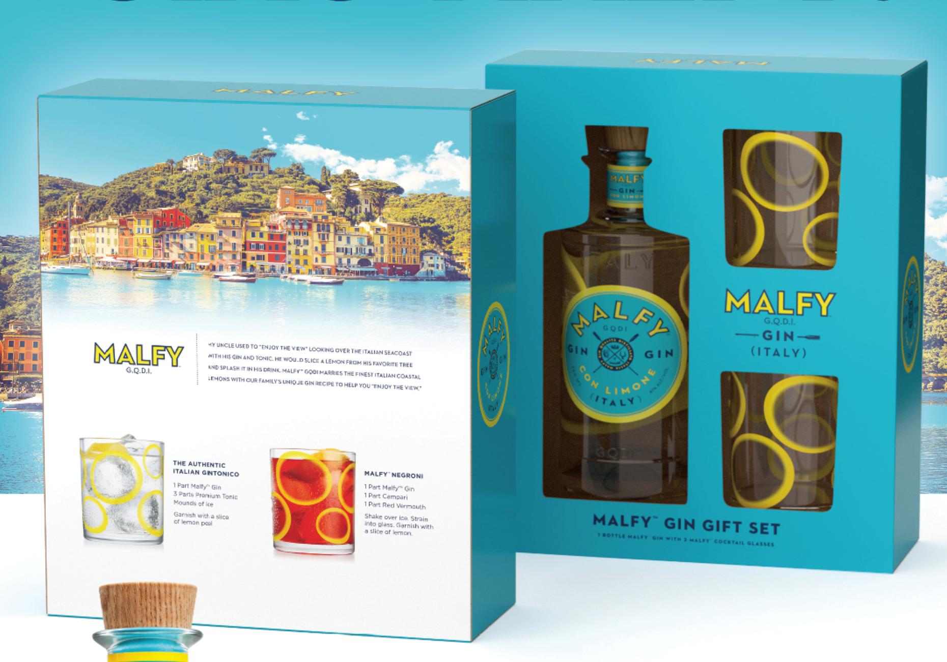malfy coffret 2 verres - malfy - gin distill u00e9 - gin